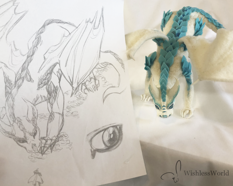 white dragon comission 4